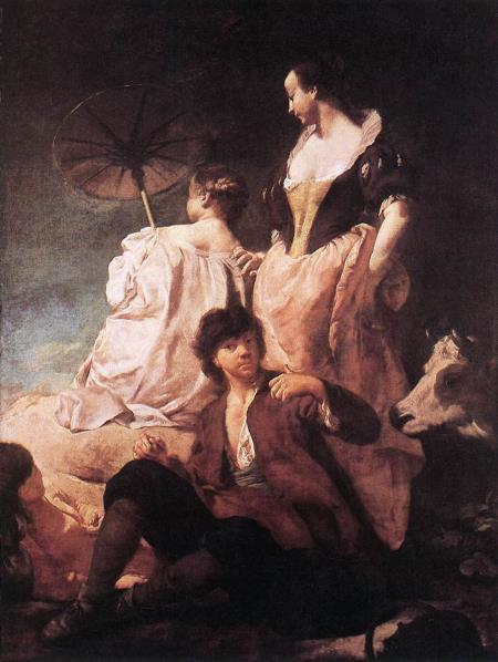 Idyll at the Coast - Giovanni Battista Piazzetta