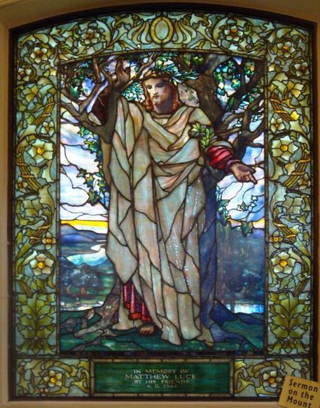 Sermon on the Mount - Louis Comfort Tiffany
