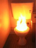 Bathroom Fire
