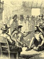 Massasoit and John Carver Peace Treaty