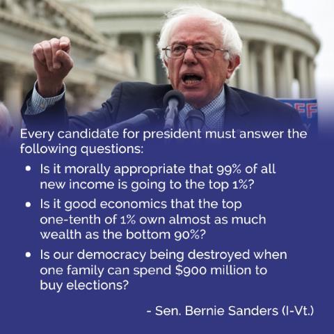 Bernie Sanders' Questions