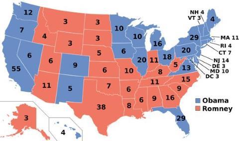 Electoral Map 2012