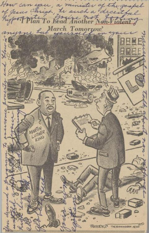 Contemporary MLK Cartoon Before He Was Whitewashed to Irrelevance
