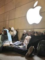 People Sleeping Outside Apple Store