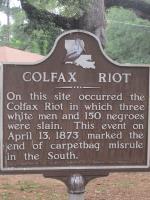 Colfax Massacre 'Riot' Sign