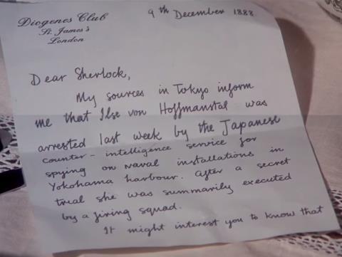 Sherlock Holmes Letter 1