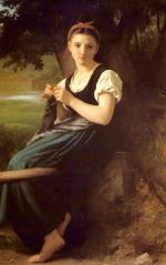 The Knitting Girl - William-Adolphe Bouguereau - 1869