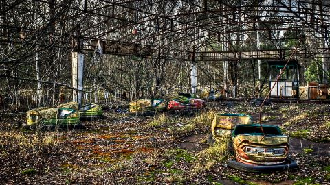 Abandoned Bumper Cars Prypiat/Chernobyl