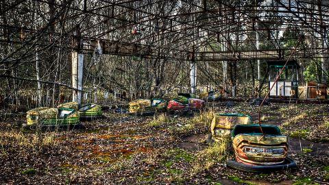 Abandoned Bumper Cars Prypiat/Chernobyl