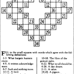 Anniversary Post: Crossword Puzzle