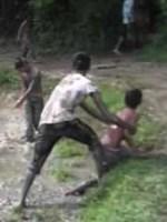 GOP Debate - Kids Mud Fighting