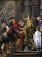 St Ambrose and Emperor Theodosius (van Dyck) - Edict of Thessalonica