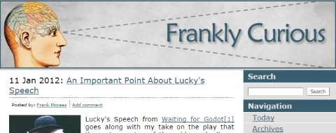 Frankly Curious Website 2012