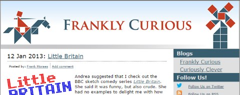 Frankly Curious Website 2013
