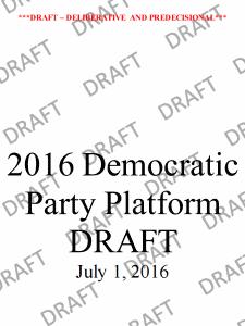 2016 Democratic Party Platform