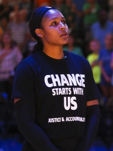 Lynx forward Maya Moore - Minneapolis Police
