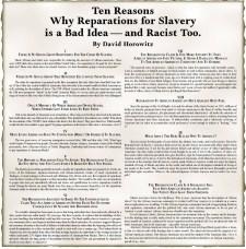 David Horowitz Racist Ad