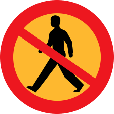 No Walking