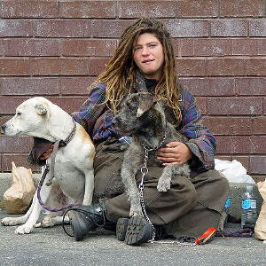 Homeless Woman - Mentally Ill