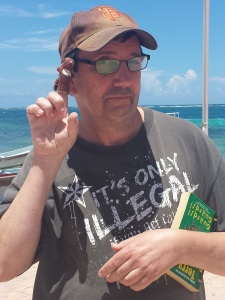 Frank on Vacation in Mexico With Grumpy Squirrel