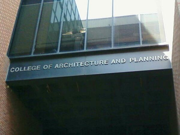 College of Architecture and Planning Sign