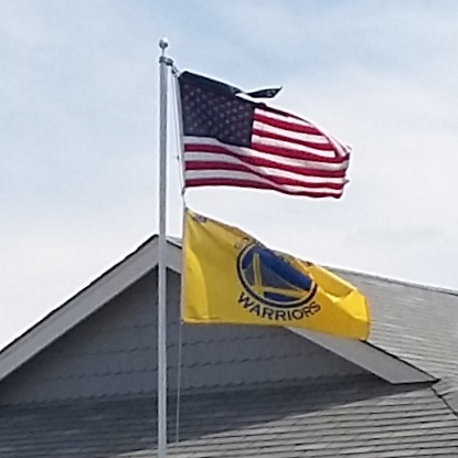US and Warriors Flags