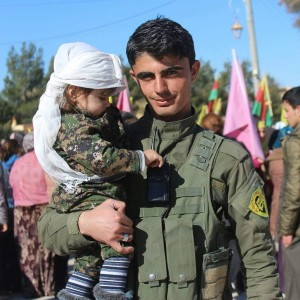 YPG Fighter With Child