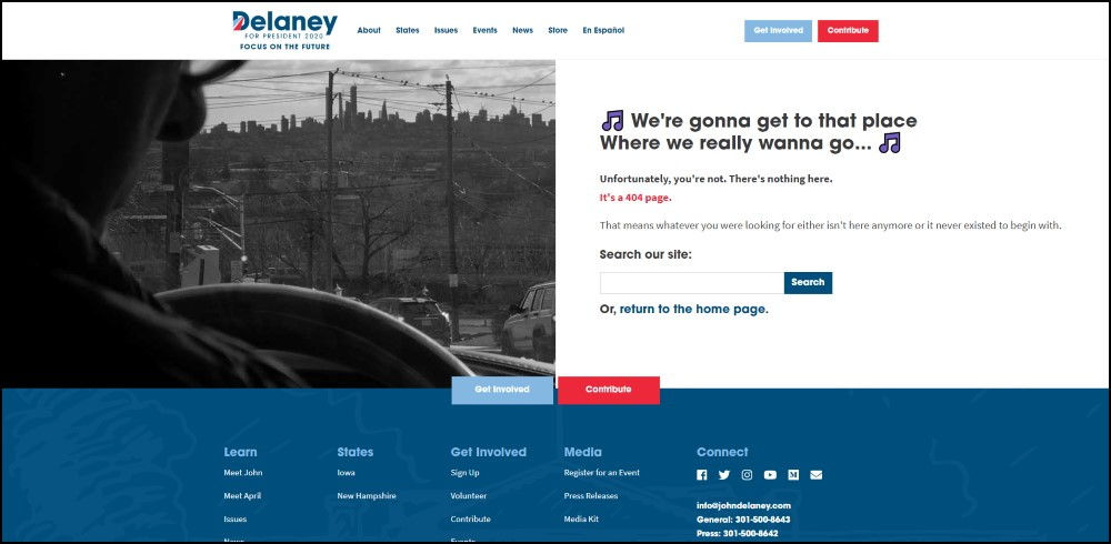 John Delaney 404