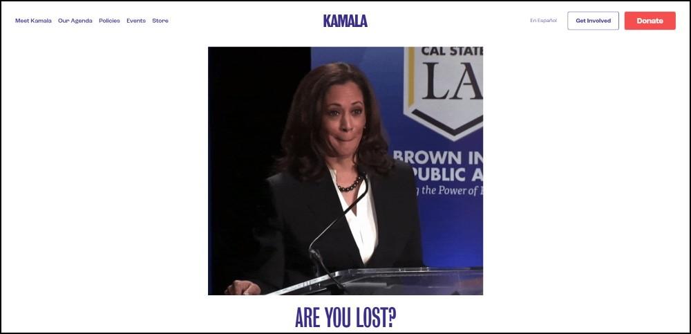 Kamala Harris 404