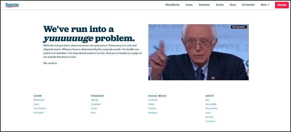 Bernie Sanders 404