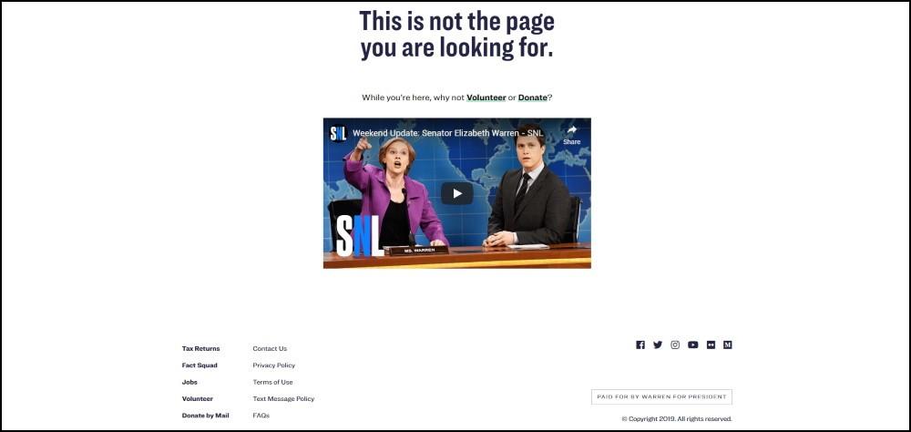 Elizabeth Warren 404