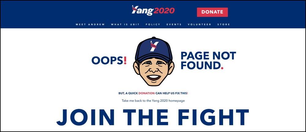 Andrew Yang 404