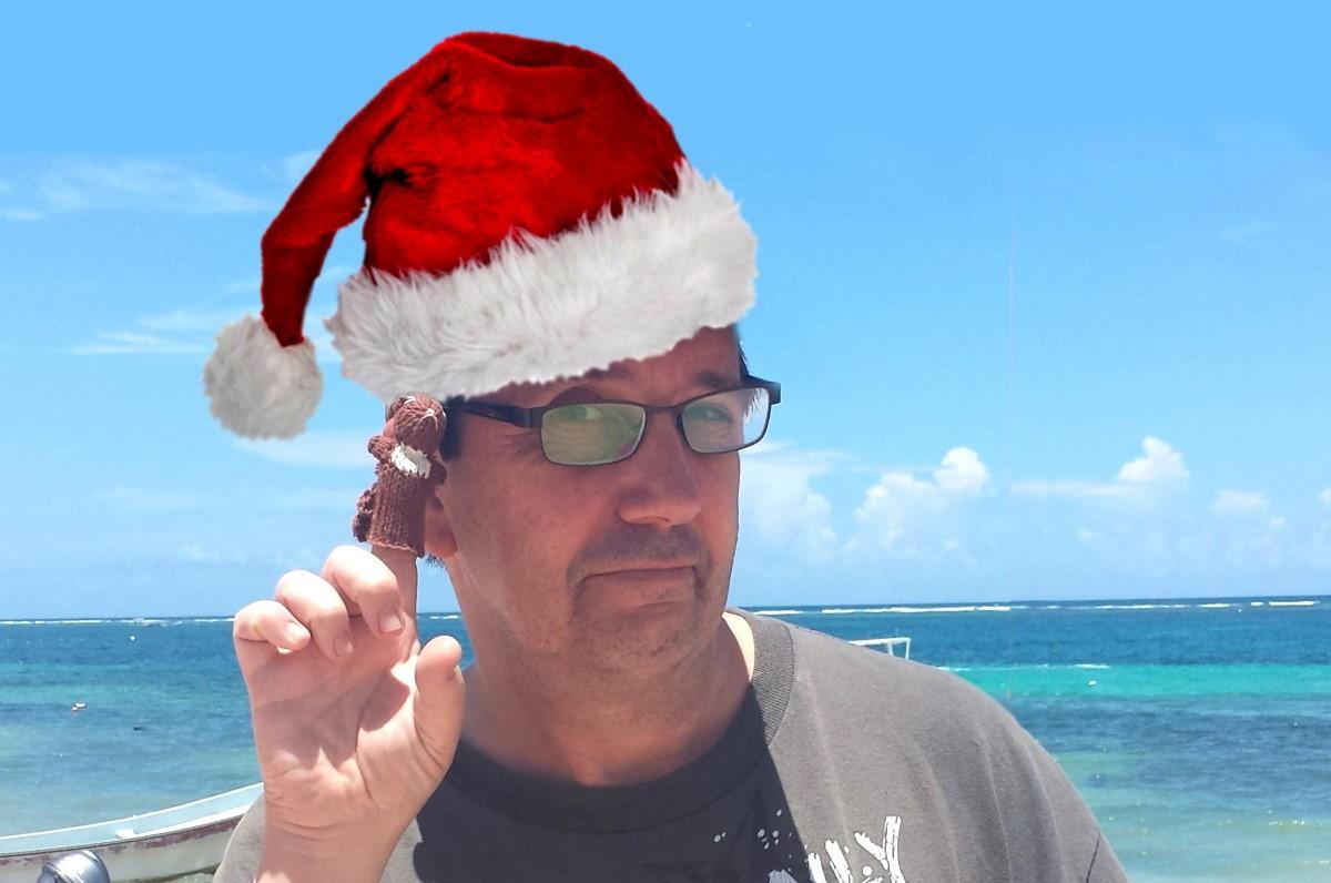 Frank With Santa Hat