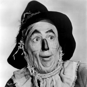 Ray Bolger as the Scarecrow